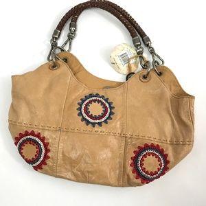 The Sak Leather Women's Shoulder Bag Tan One Size